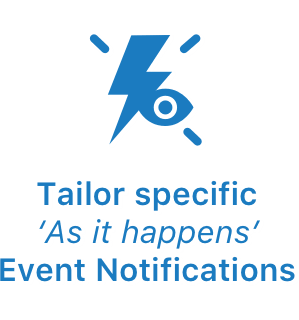 Tailor specific as it happens notifications