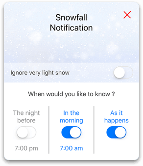 Snowfall Notification