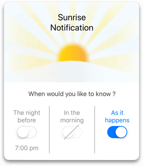 Sunrise and Sunset Notifications